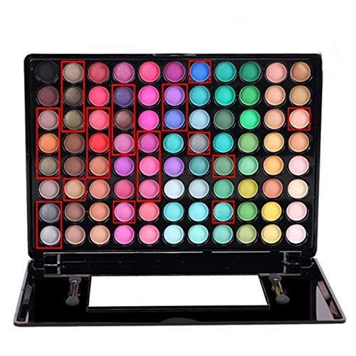 aixu Professionelles 88-Farben-Lidschatten-Set mit spiegelmatter Lidschatten-Palette Nr. 1