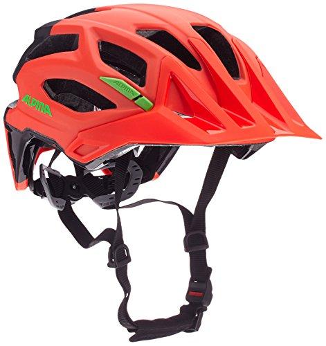 ALPINA - Trekking-, City- & Rennradhelme in neon-red-black, Größe 52-57 cm