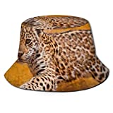 FJXXM Pequeño Gorro de Pesca de Leopardo, Sombreros de Pesca Premium para Senderismo, Pesca, Boda
