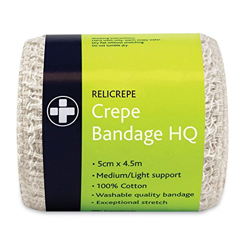Reliance Medical 400 x 5 cm weiß HQ relicrepe Crepe Bandage – 10 Stück
