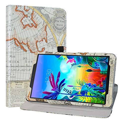 LiuShan Schutzhülle für LG G Pad 5 10.1 T600 Tablet PC (PU-Leder, um 360 Grad drehbar, mit Standfunktion, Nicht für LG G Pad X II 8.0 Plus V530) Tablet PC Weiß Karte Weiß
