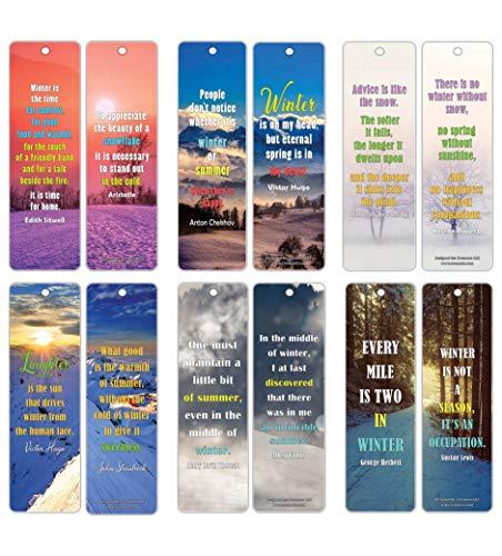 Marcadores inspiradores da série Sayings (pacote com 30), Inspirational Sayings Winter Bookmarks (30-Pack), 30-Pack, 1
