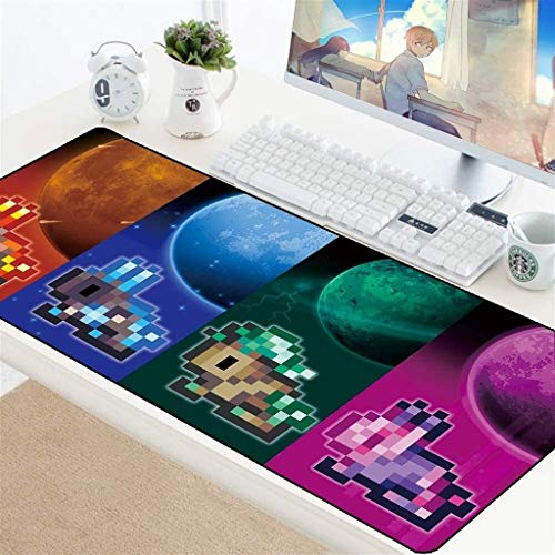 MKOIJN Extended Gaming Mouse Pad Terraria TR Gaming Mouse Pad Large Mouse Mat Game Keyboard Mat Cafe Mat Extended Mousepad For Computer PC Mouse Pad (Color : 4, Size : 900 400 3mm)