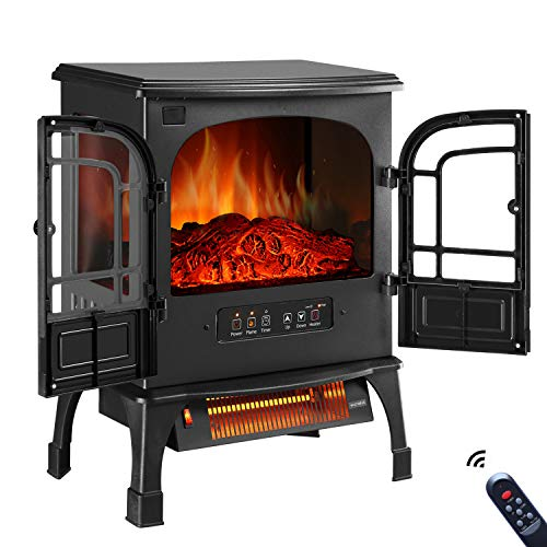 GDY Electric Fireplace Stove, Indoor 750W/1500W Electric Fireplace Heater