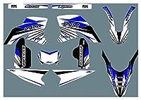 Hjunisshkm DST0741カスタマイズした3MオートバイデカールステッカーグラフィックグラフィックデカールキットYamaha WR250R 2008-2015 HFDYJ
