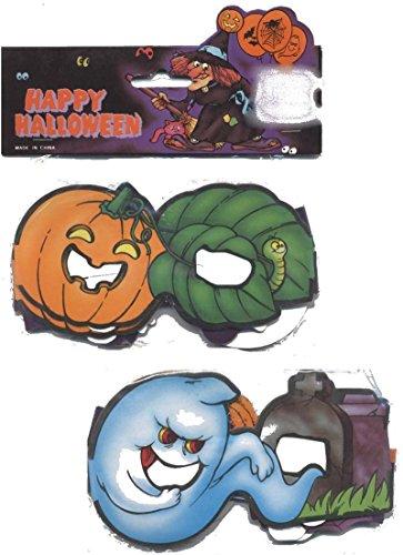festi fiesta 6 Paires de Lunettes en Carton Halloween 2 modèles Ass Halloween Deguisement Costume