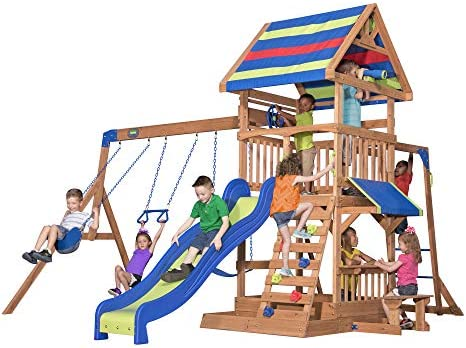 Beach Front All Cedar Wooden Swing Set product image