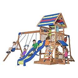 commercial Wooden swing backyard discovery beachfront all cedar wooden swing sets