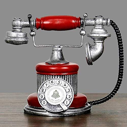 DONGLU Antiek Telefoon Creatieve Retro Decoratieve Telefoon Hars Roterende Wijzerplaat Telefoon Decoreren Café Bar Raam Decoratie Home Decoratie Props