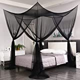 MORDEN MS 4 Corner Post Bed Canopy, Large Mosquito Net Bedroom Canopy Curtains Fits All Cribs and Bed for King Size, Queen Size Bed, Kids Rooms, Baby Bassinet