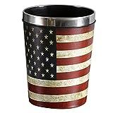 GAKIN 1 x wasserdichter Papierkorb, amerikanische Flagge mit Deckel, für Büro, Küche, Schlafzimmer