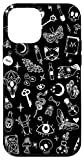 iPhone 12 mini Black Gothic Occult Witchy Witchcraft Wicca Pattern Case