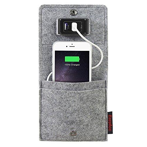 EasyAcc Handys Smartphone Huwei P20/ Samsung S9/ iphone 8 Plus/ iphone X/ Samsung Galaxy Note8 S8 S8 Plus S7Taschen LadehalterLadeständer,Ladestation für iPhone 6S 6 HTC Hawei LG Digital kameras und viele andere Geräte - Grau