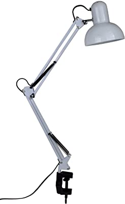 Tojane Blue Desk Lamp Adjustable Swing Arm Small Desk