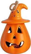 Pompoenverlichting, Halloween-decoratie, led-nachtlampje, 2 kleuren, 29 x 22 x 11 cm, werkt op batterijen, decoratie voor ...