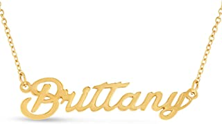 Personalized Name Necklace Pendant in Gold Tone, 100 Names Available for Immediate Purchase!