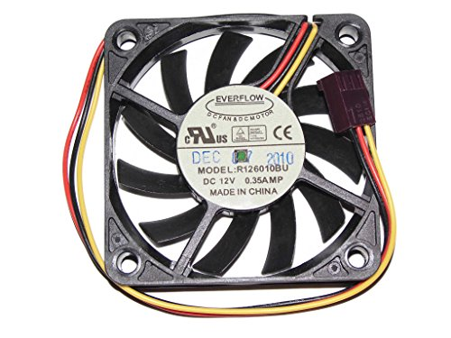 EVERFLOW 6010 R126010BU - Ventilador de refrigeración (12 V, 0,35 A, 3 canales)