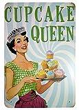Cupcake Queen Home Metall Blechschild Retro Metall gemalt