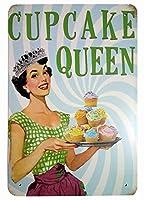 Cupcake Queen Home メタルポスター壁画ショップ看板ショップ看板表示板金属板ブリキ看板情報防水装飾レストラン日本食料品店カフェ旅行用品誕生日新年クリスマスパーティーギフト