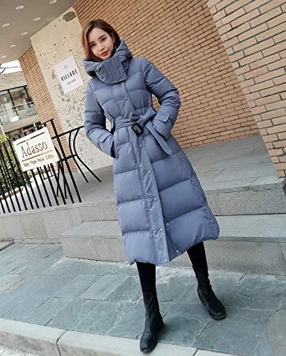 ZKYXZG Chaqueta de Plumas,Moda de Invierno Nueva Chaqueta con Capucha Espesar Gran tamaño Azul Negro BlancoAbrigo deMujer, Beige, 5XL