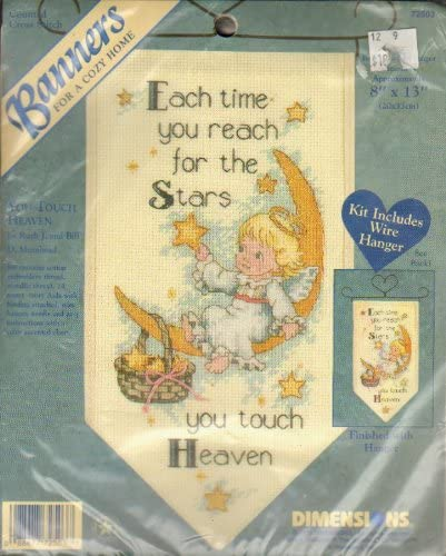 You Touch Purchase Heaven - Counted Max 79% OFF Cross Stitch Kit Banner