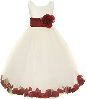 24815a6b2e Cinderella Couture Big Girls  Ivory Tulle Petal Flower Girl Pageant Dress