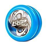YoyoFactory Loop 360 Yo-Yo - Blu (Grande per i Principianti, Gioco Yoyo Moderno, Cuscinetto a Sfera in Metallo, Corda e Istruzioni Incluse)