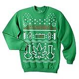 Unisex Have Yourself A Marijuana Christmas Crew Neck Sweatshirt For Xmas Party (Green) - L
