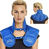 LotFancy Gel Ice Pack for Neck and Shoulder, Reusable Cold Neck Wrap for Pain with Adjustable Straps, Flexible Hot Cold Therapy Compress Pad for Swelling, Injuries, Stress, Tension Relief