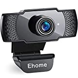 Ehome Webcam with Microphone USB 1080P