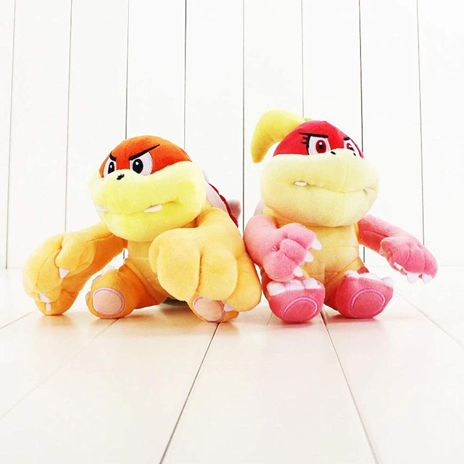 Stuffed Animal 2pcs lot Little Buddy Super Mario Bros All Star Collection Bun Bun Pom Pom Plush Doll Cute Cartoon Koopa Bowser Plush Doll 14cm