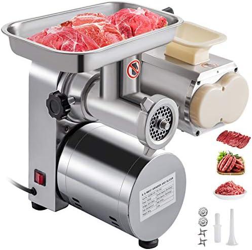 VBENLEM 3 in 1 Electric Meat Grinder 500LB H Commercial Meat Slicer 110V Stainless Steel 1100w product image