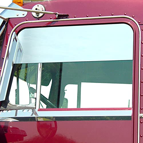 """RoadWorks Stainless Steel 6"""" Chop Tops for Kenworth Daylite Door, Polished Finish"""