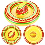 2 Packs Inflatable Mexican Sombrero Hat Party Accessory Cinco De Mayo Decorations Mexican Fiesta Theme Party Supplies, Multicolor