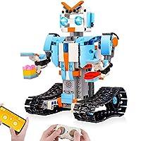 Sillbird STEM ブロック建築ロボット、子ども用リモコン工学科学教育用建築おもちゃキット、8、9〜14歳の男児、女児向け