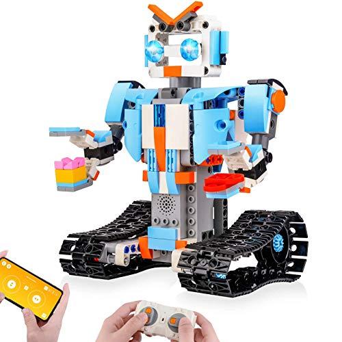 Sillbird STEM ブロック建築ロボット、子ども用リモコン工学科学教育用建築おもちゃキット、8、9〜14歳の男...