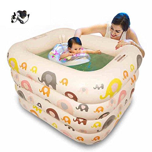 ENFANTS piscine gonflable chaleur Plus épaisse de bain de bébé Jaune