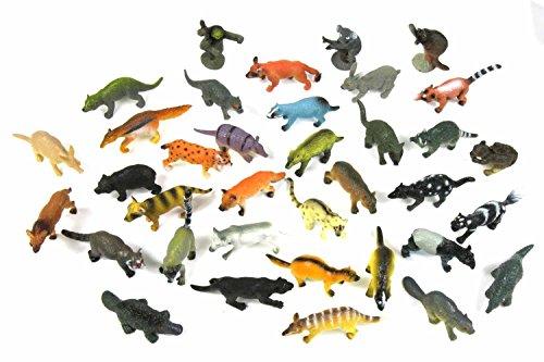 Miniblings 34x Wildtiere Wilde Tiere Tierfiguren Aufstellfiguren Nager Räuber