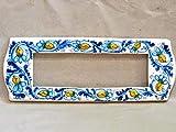 copri interruttore ceramica : decoro'Raf blu'