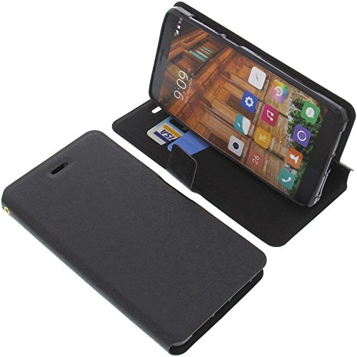 foto-kontor Tasche für Elephone S3 Book Style schwarz Schutz Hülle Buch