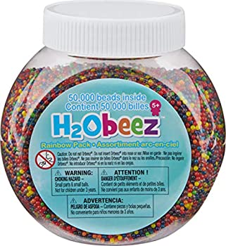 Orbeez -H2Obeez Rainbow Pack–50,000 Orbeez Water Beads Non-Toxic Safety-Tested Kids Sensory/Tactile Toy Refill for all Orbeez SPA items Filler for Vases & Plant Great for Wedding & Home Décor.
