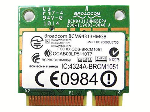 BROADCOM BCM94313HMGB BCM4313 Mezzo Mini PCIe BT Bluetooth WiFi Wireless Card per HP Laptop 598711-001 600370-001 657308-001 657325-001