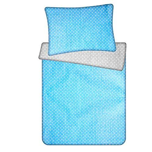 ropa de cama infantil - sabanas chichonera edredon cuna colcha infantil Juego de funda nórdica + funda de almohada ALGODÓN azul blanco gris,100X135