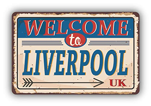 Liverpool City United Kingdom Retro Vintage Emblem - Self-Adhesive Sticker Car Window Bumper Vinyl Decal Hochwertiger Aufkleber