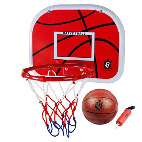 HYZH Indoor Outdoor Hängenden Basketballkorbset Mini Basketball Brett Mit Ball Und Pumpe