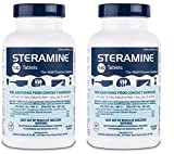 Steramine Sanitizing Tablets For Sanitizing Food Contact Surfaces, Kills E-Coli, HIV, Listeria, 1-G 150 Sanitizer Tablets per Bottle, Blue, Pack of 2 Bottles