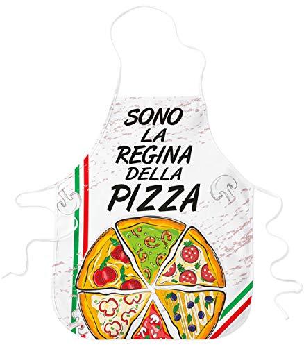 STAMPATEK Grembiule Cucina Divertente Sono La Regina della Pizza Pizzaiolo Idea Regalo Grembiuli