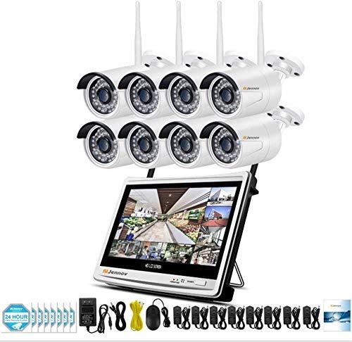 Lsmaa Beveiligingscamera 1080P HD high-definition draadloze monitor set met scherm NVR recorder mobiele telefoon remote bekijken WIFI camera voor iOS Android app