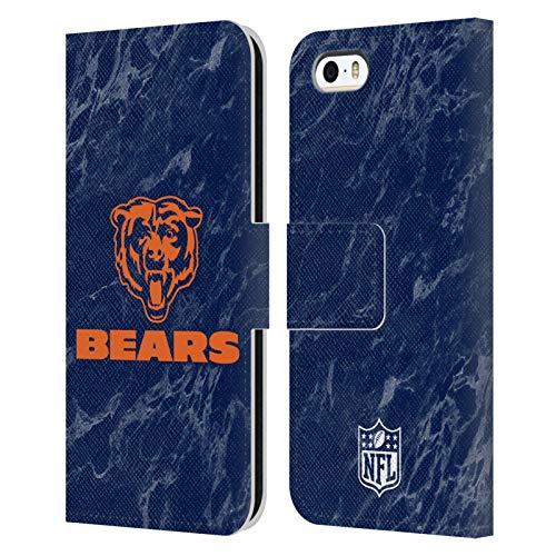 Head Case Designs Licenza Ufficiale NFL Marmoreo Colorato Chicago Bears Graphics Cover in Pelle a Portafoglio Compatibile con Apple iPhone 5 / iPhone 5s / iPhone SE 2016