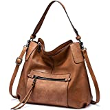 Realer Hobo Bag Women Purse Handbag Large Crossbody Bag Womens Shoulder Bag (Brown)